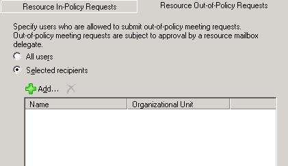 Resource Out-of-Policy Requests